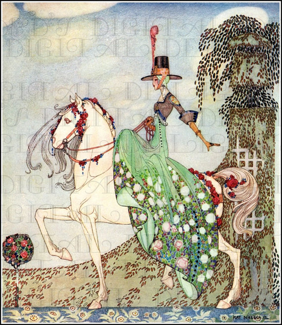 In The Garden. Deco Kay NIELSEN